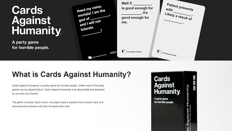 Are you great at telling jokes? Do you have what it takes? Well, Cards Against Humanity is looking for new writers.