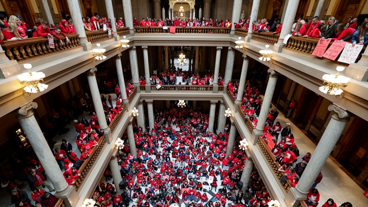 Teacher Protests Indiana