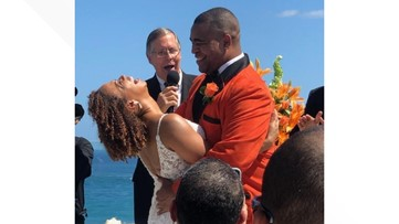 Love in the Land: Journalist and Meteorologist marry in Puerto Rico
