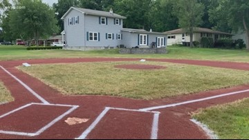 Ohio dad transforms backyard into baseball field for 5-year-old son