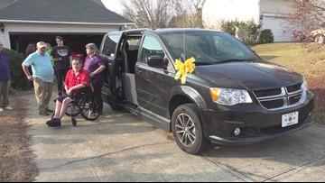 Disabled veteran surprised with van