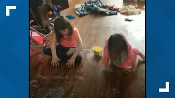 Mom shares video of kids on butter-coated floors during homeschooling
