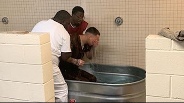 18 inmates baptized at South Carolina jail