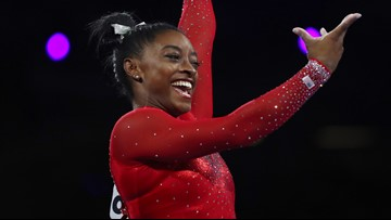 Simone Biles named female athlete of the year