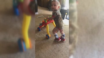 'A true miracle from God': 3-year-old with cerebral palsy takes his first steps