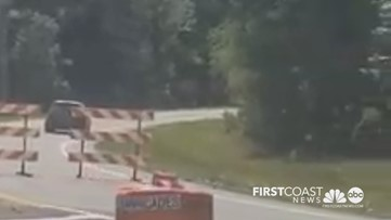 Video shows motorists driving off road, around barriers to avoid Florida coronavirus checkpoint
