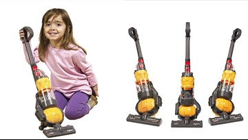 Parents! Amazon sells this toy vacuum that actually cleans