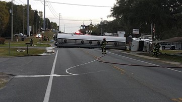 Fuel tanker crash leads to day care center evacuation