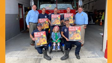 Firefighters 'Fill the Boot' to help children with muscular dystrophy