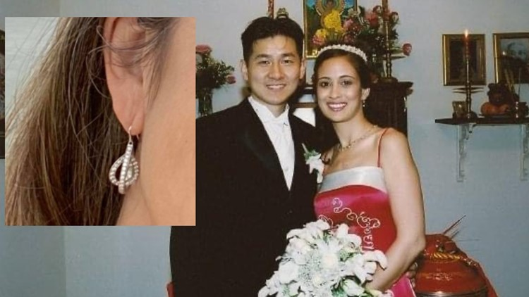 Health care worker needs help finding earring from her late husband after the Super Bowl