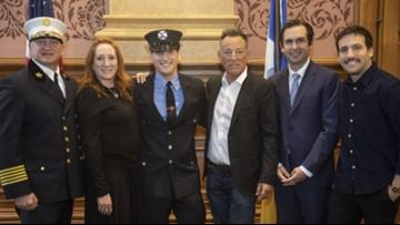 Bruce Springsteen's son sworn in as Jersey City firefighter