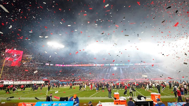 Tweets turned into confetti help Bucs celebrate Super Bowl win