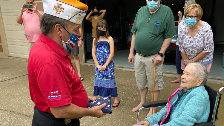 WWII veteran given special 100-year-old birthday parade