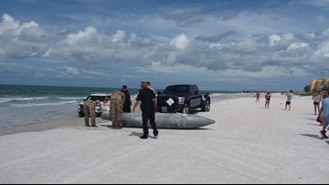 F-16 Fuel Tank Washes Up on Florida Beach