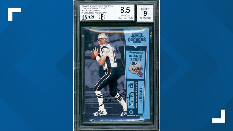 Tom Brady rookie card sells for more than $2.25 million at auction