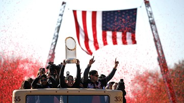 The Nationals victory parade