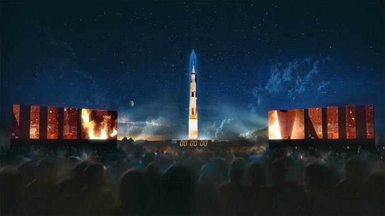 363-Foot Saturn V Rocket To Light Up The Washington Monument for 50th Anniversary of Apollo 11