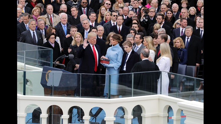 Donald Trump is now the 45th president of the United States