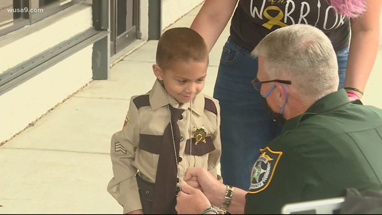 Sheriff's office helps a young cancer patient live out his dream