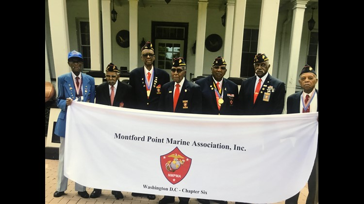 A group of local Montford Point Marines