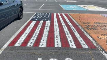 Virginia high school senior honors fallen soldiers with parking space mural