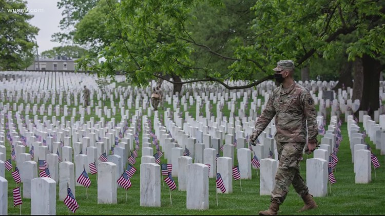 Arlington National Cemetery relaxes COVID restrictions ahead of Memorial Day