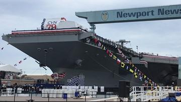 ICYMI: Future USS John F.  Kennedy christened at Newport News Shipbuilding