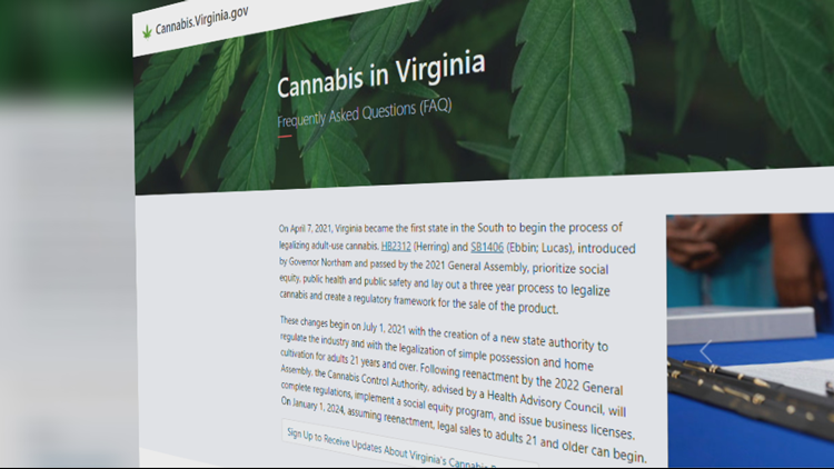 Virginia unveils new marijuana legalization website; here's what's legal, and what isn't starting July 1
