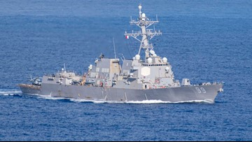 U.S. warship faces aggressive moves by Russia ship in Mideast