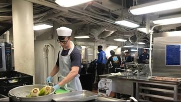 Thanksgiving preps aboard USS Dwight D. Eisenhower