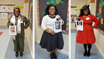 Teacher celebrates Black History Month by bringing history to life