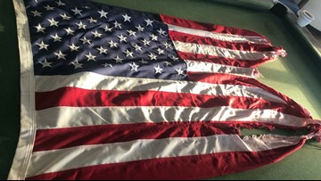Frying Pan Tower Selling Flag Flown During Hurricane Dorian To Raise Money For NC Communities