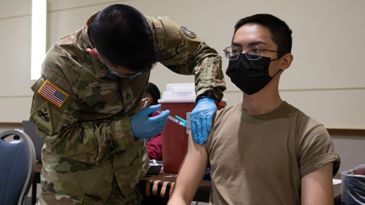 Military and civilian Department of Defense personnel must be vaccinated or face strict rules