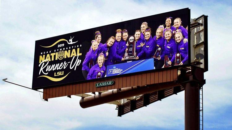 Writer slams LSU gymnastics for billboard honoring 2nd place finish - Twitter slams back