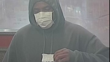 Bank robber wearing surgical masks hits 6 banks, police say