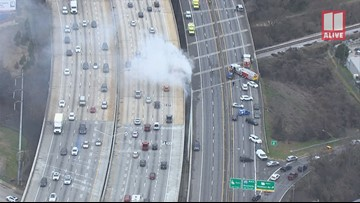 Another fire breaks out under I-85 in Atlanta