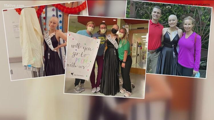 Children's Healthcare of Atlanta nurses throw prom for leukemia patient