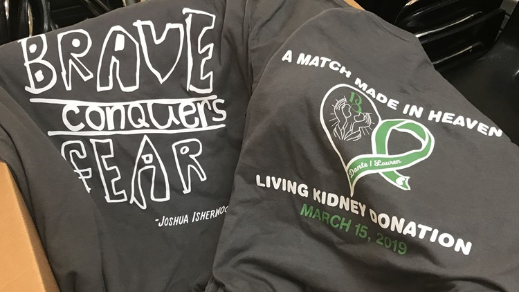 Brave Conquers Fear T-Shirts for Dante Sipp