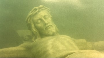 20 Feet Down in Lake Michigan There is a 12-Foot-Tall Statue of Christ