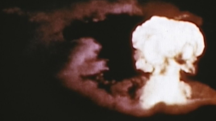 """July 1, 1946 was the """"Able"""" bomb test at Bikini Atoll."""